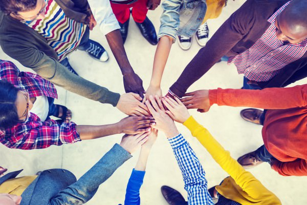 Diverse and Casual People and Togetherness